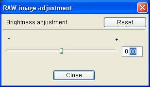 Canon DPP 1.5: Brightness Adjustment