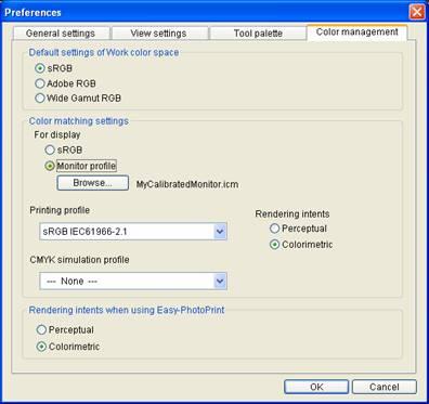 Canon DPP 1.5: Preferences Window