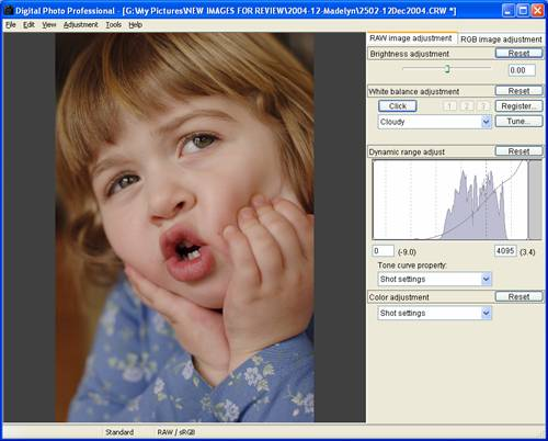 Canon DPP 1.5: 'Edit Window'