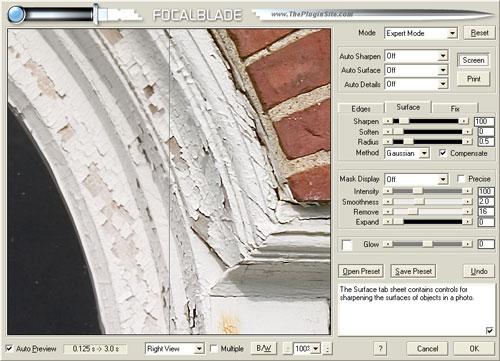 FocalBlade: Surface Tab