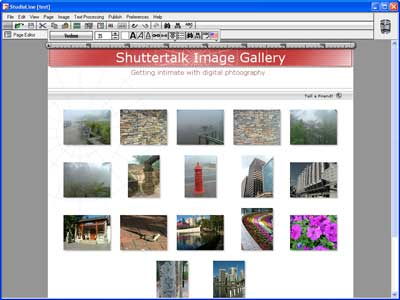 Gallery Page Editor