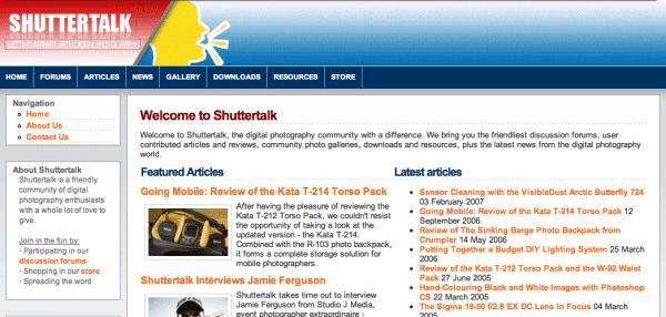 Shuttertalk Circa 2006