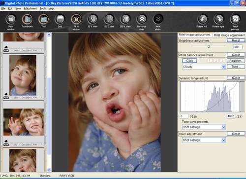 Canon DPP 1.5: 'Edit Image' Window