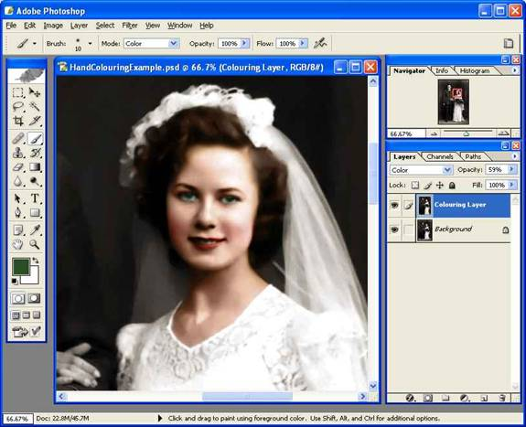 Hand Colouring Black And White Images With Photoshop Cs
