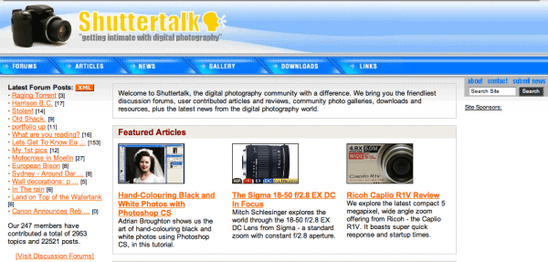 Shuttertalk Circa 2005