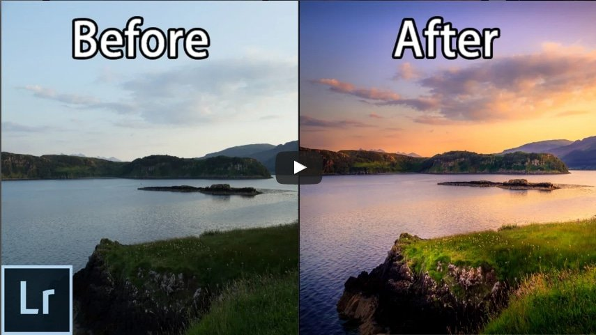 Difference between two images of landscapes