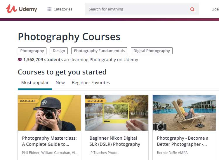 Free online digital photography tutorials for beginners.